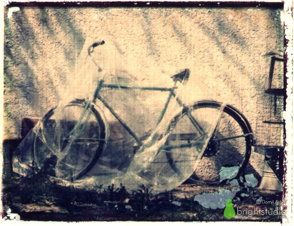 Relaunching BrightStudio – Bicycle Polaroid Transfer –