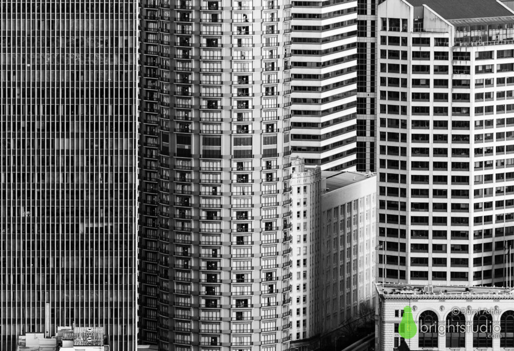 Downtown Seattle – A Cityscape in Black and White