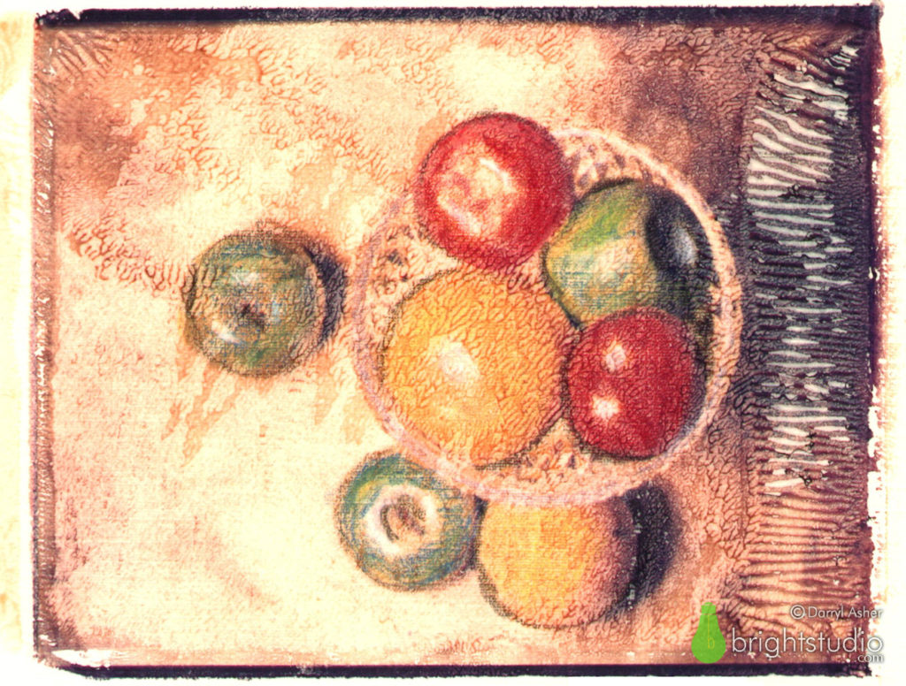 Fruit on Canvas