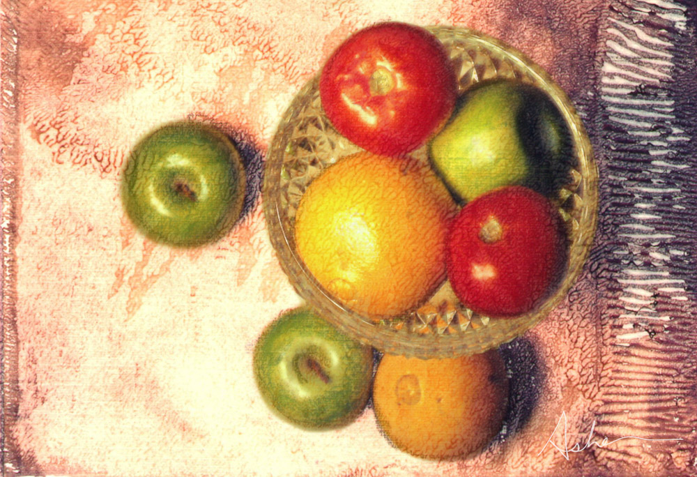 Fruit on Canvas