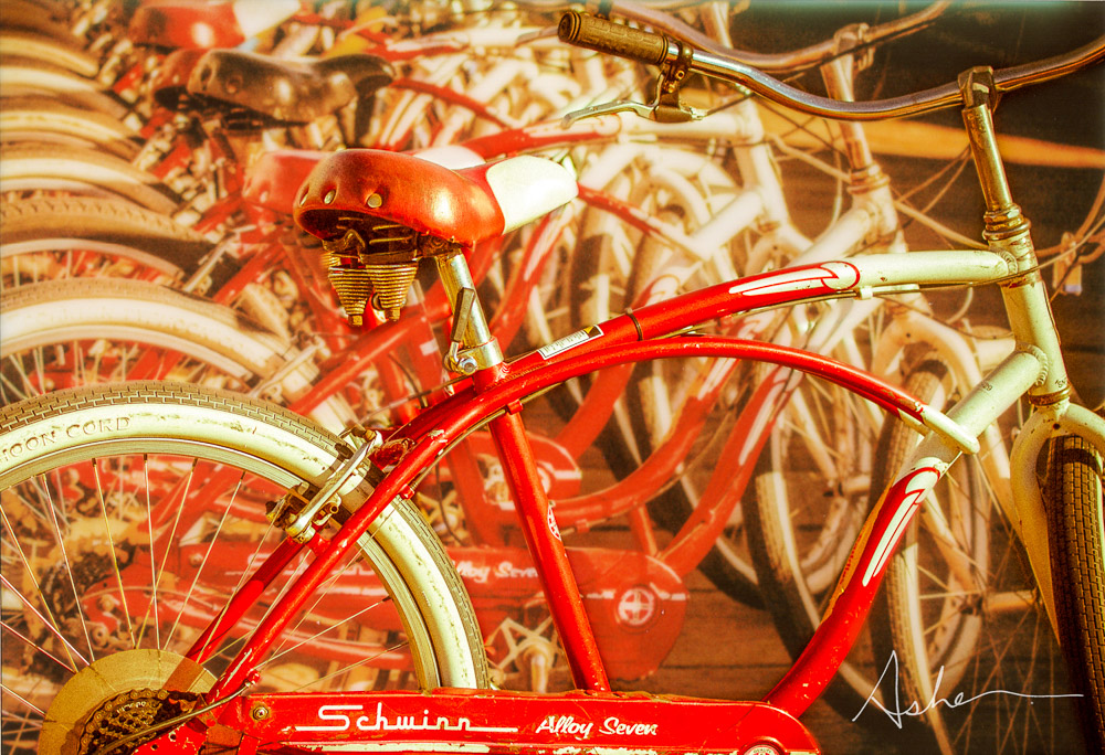 Bicycles on Santa Monica Boardwalk